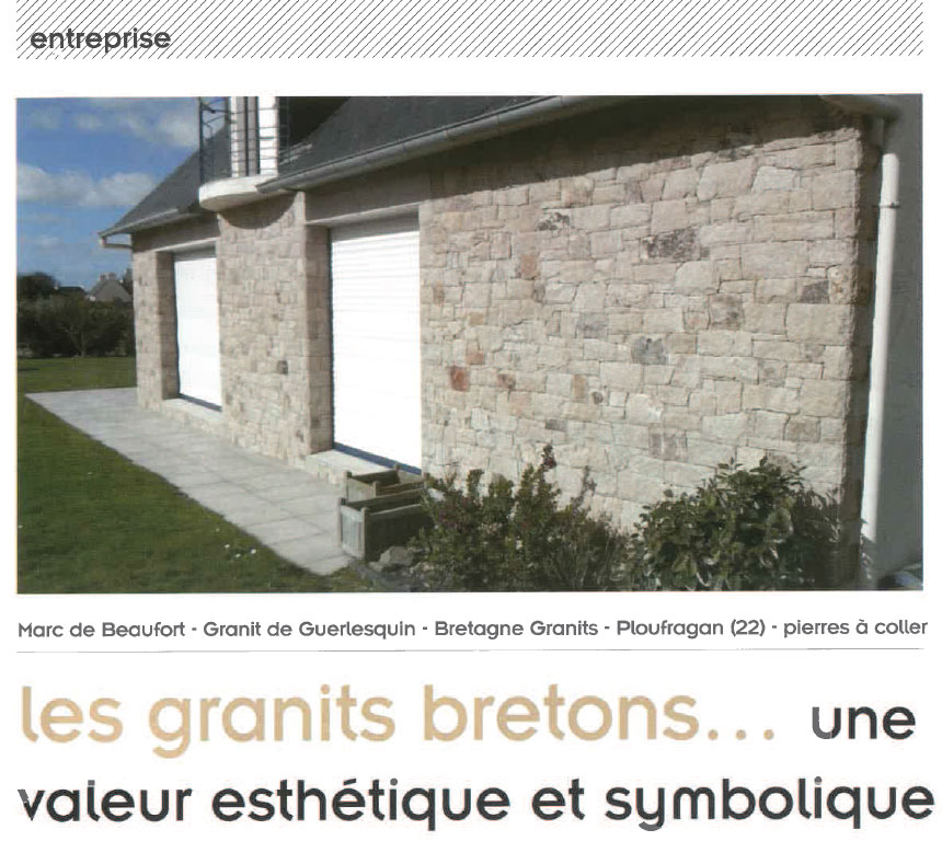 les granits bretons - article pierre actual septembre 2016